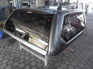 Grey car canopy